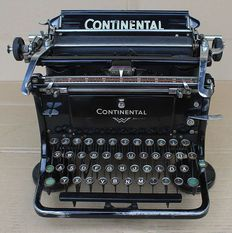 """Beautiful and Working Continental Typewriter Standard """"A"""" , Germany 1939"""