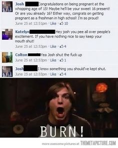 Congratulations on being pregnant at 16