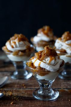 No Bake Caramel Apple Cheesecake Trifle by @sharedappetite.  Perfect fall apple dessert for parties and Thanksgiving!  Easy entertaining!