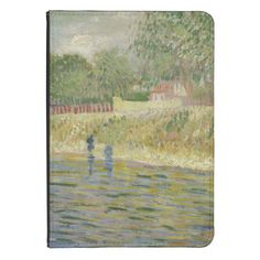 Bank of the Seine by Vincent Van Gogh Kindle Case