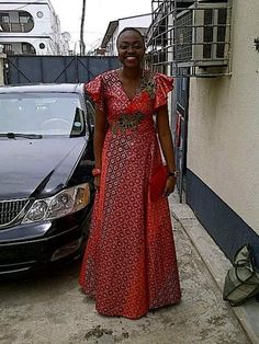 Ankara long dress