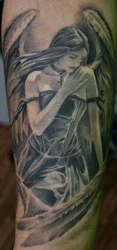 Image result for warrior angel tattoo images