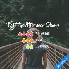 Fight the Afternoon Slump - Essential Oil Diffuser Blend