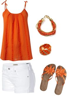 summer/casual, created by kbdbkb on Polyvore