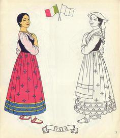 Jolis Costumes: Album a Decouper, Composer, Colorier / eurocolor p5: Italy | Flickr - Photo Sharing!