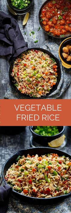 Something really special about this Vegetable Fried Rice is the Indo-Chinese influence in this recipe. It is extremely easy as I record and they taste delicious on its own and out of the world when paired with a Saucy Gobi Manchurian or a Schezwan Gravy.