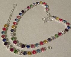 """Custom-made crystal jewelry      I custom-make Swarovski Crystal Jewelry. Check out my facebook page...type """"Bling Swarovski"""" into search box to view much more. Custom-made Crystal Jewelryhttps://www.facebook.com/pages/Bling-Swarovski-Crystal-Jewelry/294619047216262"""