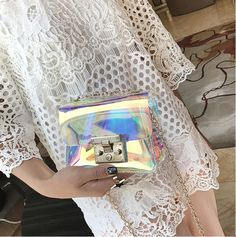 Women Pvc Bag Transparent Small Tote Messenger Bags Flap 2017 New Fashion Shoulder Bags Female Summer. Click visit to buy Pink Fashion, Fashion Bags, Silhouette Mode, Jelly Bag, Transparent Bag, Clear Bags, Vintage Style Outfits, Clothing Company, Small Bags