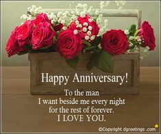 Anniversary Card for him Happy Anniversary Messages, Anniversary Wishes For Friends, Anniversary Cards For Him, Wedding Anniversary Wishes, Anniversary Ideas, Happy Anniversary To My Husband, Happy Marriage Anniversary, Happy Birthday Greetings, Birthday Wishes