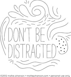 pattern Don't Be Distracted by wildolive, via Flickr