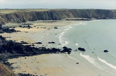 Pictured is Marloes Sands in Pembrokeshire, Wales, which completed the list finishing a re...