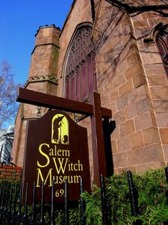 Learn about the Salem Witch Trials and the evolution of the word Witch at the Salem Witch Museum - I've been here, and it's kind creepy.  I think there are a lot of restless spirits still in Salem.
