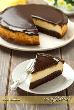 Brownie cheesecake un dolce americano bello da pre Cheesecake Brownies, Cheesecake Cupcakes, Chocolate Cheesecake, Cheesecake Recipes, Dessert Recipes, Cheesecake Decoration, Turtle Cheesecake, Strawberry Cheesecake, Pumpkin Cheesecake