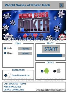 World Series of Poker Texas Hold'em Hack For Cash and Chips - http://appgamecheats.com/world-series-poker-texas-holdem-hack-cash-chips/