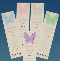 I gave these out at Michelle's memorial. Love it....you plant the butterfly and forget-me-nots will grow