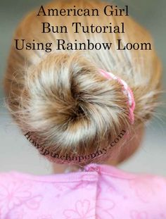 Combine American Girl dolls, creativity, Rainbow loom and a snowy day and you get a video tutorial from my oldest on how she makes a bun on her American Girl Doll using a fishtail braid bracelet from her Rainbow Loom.