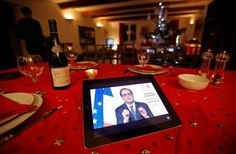 Amy B. Wang, French employees can legally ignore work emails outside of office hours, The Washington Post ©January 1, 2017 at 6:30am. [Photo: Jean-Paul Pelissier/Reuters: French President François Hollande, seen on a iPad screen in Marseille, gestures as he gives his traditional New Year's speech in a prerecorded presentation.]