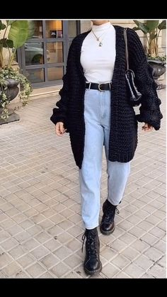 71 Hipster Outfits That Will Inspire You - Style ☾Inspirations - Cute Casual Outfits, Grunge Outfits, Outfits For Teens, Casual Jeans, Popular Outfits, Outfits With Boots, Hipster Outfits For Women, 90s Style Outfits, Women Fall Outfits