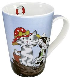Konitz Happy Cats Friendship Mugs, Assorted, Set of 4 *** Awesome cat product. Click the image : Cat mug Cat Cookie Jar, Cookie Jars, Happy Friendship, Silly Cats, Fun Cup, Cat Mug, Mugs Set, Are You Happy, Coffee Cups