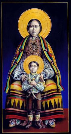 Seminole Madonna and Child by Father John Giulian