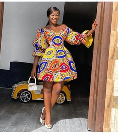 Ankara Print Short Dress Styles: African Fashion Styles for Cute Ladies Best African Dresses, African Fashion Ankara, Latest African Fashion Dresses, African Inspired Fashion, African Print Dresses, African Print Fashion, African Attire, African Shirts, African Clothes