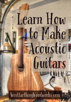Acoustic guitar making for beginners can be a real challenge. I show you how to simplify the steps, make your own tools, and make the process much easier. #WoodworkProjects