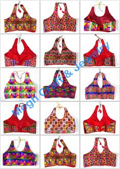 Bollywood Style Halter Neck Blouse - kutch Embroidered backless blouse - Party wear Crop top - Fashion wear Tees Wholesale  - For Wholesale Visit@ www.indianethnicjewelry.com