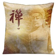 Lama Kasso Zen Supreme Buddha with Yellows and Reds Fading Earth Tones on Reverse Side, Satin 18-Inch Square Pillow. Lama Kasso pillows and throws are truly made in the USA; designed by renowned American designer, Bunker Hill Bradley in Las Vegas; each incredible pillow and throw is a work of art designed, printed and manufactured in Las Vegas. Bunker has created wonderful unique artwork for each pillow and throw with colors that have to be seen to be believed. Each pillow and throw is…