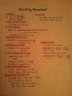 Med calc formulas