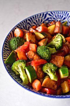 Tofu Veggie Stir Fry | mountainmamacooks.com
