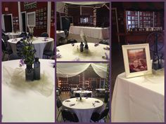 Rehearsal Dinner collage  Navy, purple and green accents