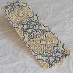 Loom Pattern - Gold Damask Cuff Bracelet