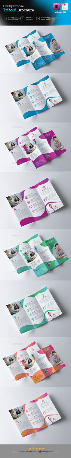Trifold Brochure  - InDesign Template • Only available here ➝ http://graphicriver.net/item/trifold-brochure-/16821392?ref=pxcr
