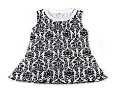 Damask baby dress
