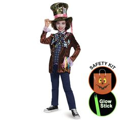 Alice Through The Looking Glass - Boys M Halloween Trick or Treat Safety Kit Medium -- Awesome products selected by Anna Churchill
