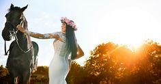 Our beautiful bride, Simona