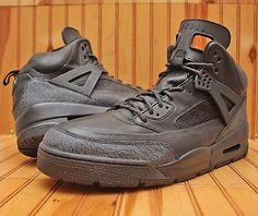 Nike Air Jordan Spizike Winterized Size 17 -Triple Black Out Cement-375356 001