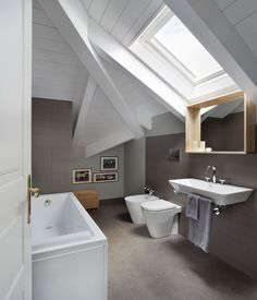 View the full picture gallery of GV House Turin, Attic, Villa, Bathtub, Relax, House Design, Pictures, Gallery, Home