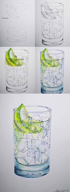 How to paint lemon bubble water withe ice cubes - #sparklinglemonade Sparkling Strawberry Lemonade, Rose Lemonade, Ginger Lemonade, Pineapple Lemonade, Lemonade Cocktail, Blueberry Lemonade, Watermelon Lemonade, Brazilian Lemonade, Homemade Lemonade Recipes