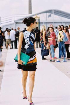 Vanessa Jackman: Paris Fashion Week SS 2015....Caroline Issa. Rocking pattern!
