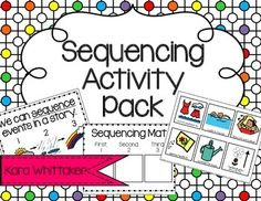 """Use sequencing picture cards as a hands-on way to scaffold the skills of """"sequencing events"""" and """"retelling a story!"""""""