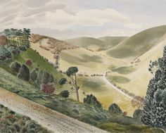 Beautiful scale and depth. I feel like I'm there! Eric Ravilious
