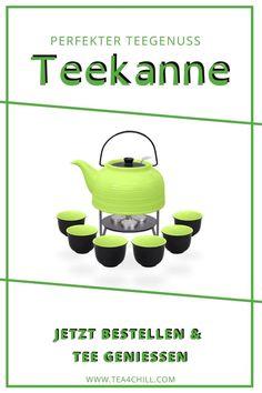 Modernes Design ⟶ Eleganz  beim Teegenuss, Hitzebeständige Keramik ⟶ stabil und wärmespeichernd - das ist die Teekanne Nelly im Set mit passenden Bechern und optional  auch mit Stövchen. Wählen Sie aus mehreren Farben und finden Sie Ihr  Wunschmodell für den perfekten Tee zuhause. Ideal auch als Geschenk. Oolong Tee, Mate Tee, Stabil, Canning, How To Make Tea, Contemporary Design, Knowledge, Gift, Ad Home