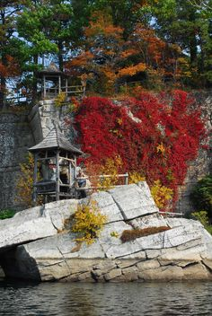Mohonk Mountain House, NY. You don't have to spend the night to enjoy the hotel grounds and water activities.
