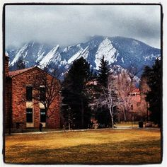 Our beautiful campus #CUBoulder #ForeverBuffs