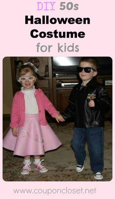 DIY 50s Halloween Costume for kids (Boys and girls!)