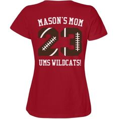 Football Mom Faux-Pocket Misses Relaxed Fit Fruit of the Loom Tee