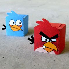 Angry birds boxes- free template