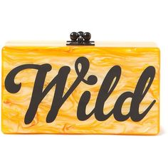 Edie Parker Jean Wild Clutch ($1,632) ❤ liked on Polyvore featuring bags, handbags, clutches, edie parker, orange handbags, orange purse, edie parker handbags y edie parker clutches