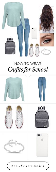 """""""School"""" on Polyvore featuring JDY, WithChic and Converse"""
